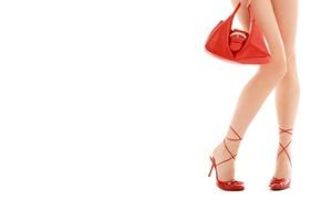 Картинка туфли, сумочка, шпильки, дамская