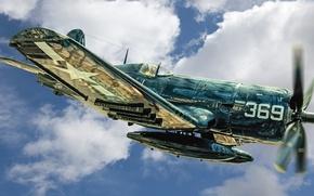 Картинка истребитель, Marine, Corsair, палубный, F4U-4