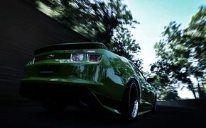 Картинка скорость, размытие, Chevrolet, Camaro