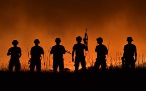 Картинка Солдаты, военные, оружие, амуниция