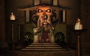 Картинка трон, mortal kombat, mileena, милина
