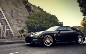 Картинка дорога, Porsche, Panamera, диски, порше, панамера