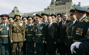 Картинка праздник, солдаты, военный, Дмитрий Медведев, Офицеры