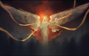 Картинка ленты, ангел, арт, жезл