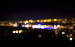 Картинка город, огни, боке, BOKEH
