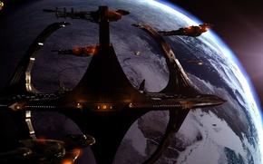 Картинка космос, планета, terok nor