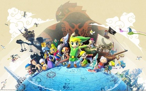 Картинка Hero, Nintendo, Link, The Legend of Zelda:The Wind Waker HD