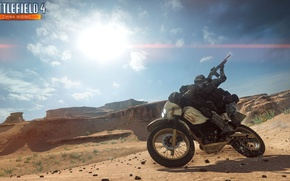 Картинка пустыня, байк, шелковый путь, Battlefield 4