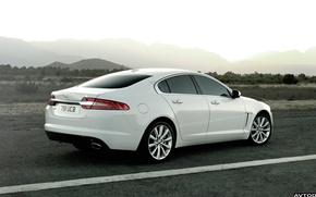 Картинка дорога, белый, горы, Jaguar