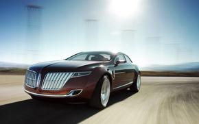 Картинка дорога, Lincoln, MKR, седан
