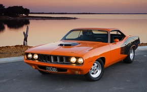 Картинка muscle car, плимут, cuda, Plymouth Barracuda
