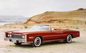 Картинка фон, Eldorado, Cadillac, передок, 1976, Convertible, Кадилак, Fleetwood