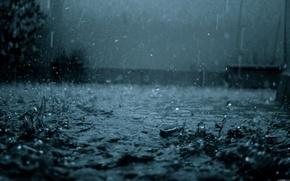 Обои настроения, дождь, капли