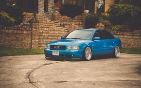 Картинка Audi, ауди, перед, синяя, blue