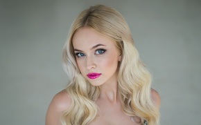 Картинка взгляд, лицо, модель, макияж, Ekaterina