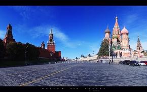 Картинка Красная площадь, City, Russia, city wallpapers, Moscow, Россия, вид, Москва, Город, Red square, пейзаж, Васильевский ...