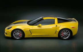 Обои Chevrolet, Corvette GT1, желтый