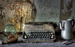 Картинка фон, мрак, печатная машинка