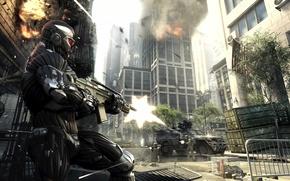 Обои Стрельба, Город, Бойня, Оружие, Кризис 2, Crysis 2