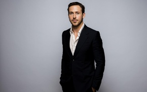Обои костюм, фотосессия, Ryan Gosling, пиджак, Райан Гослинг, актер, фон, Jay L Clendenin, LA Times