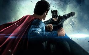 Картинка фантастика, противостояние, бой, схватка, Batman, Бен Аффлек, комикс, Superman, супергерои, Henry Cavill, Генри Кавилл, Ben …