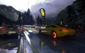 Картинка дождь, гонка, игра, гонки, mercedes, rain, race, amg, romeo, 2014, PS4, alfa, 2015, Driveclub, Evolution …