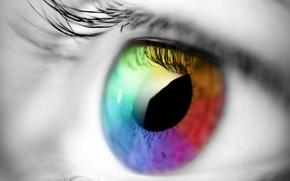 Обои взгляд, спектр, глаз