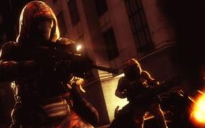 Картинка солдат, капюшон, sniper, Sniper Rifle, Ballista, Minigun, Death Machine