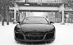 Картинка Audi, Снег, Audi R8