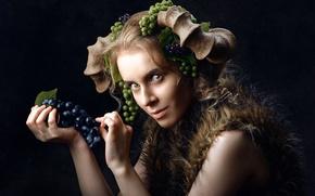 Картинка девушка, эмоция, Lena Korovashkina, Сraftiness
