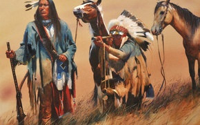 Картинка картина, живопись, painting, John Fawcett, On The Ridgeline