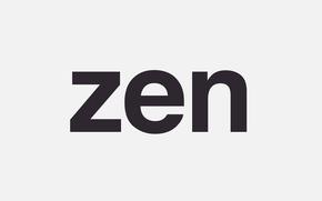 Картинка буквы, надпись, Zen, Цзен