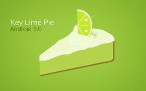 Обои лимон, рисунок, вектор, долька, торт, лайм, android