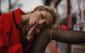 Картинка девушка, лицо, палец, губы, ножка, Emma