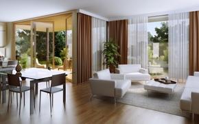 Картинка house, interior, living space