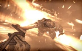 Картинка взрыв, огонь, мертвый космос, Айзек Кларк, Dead Space 3