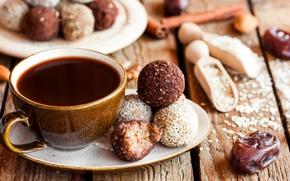 Картинка конфеты, сладкое, кофе, еда, чашка