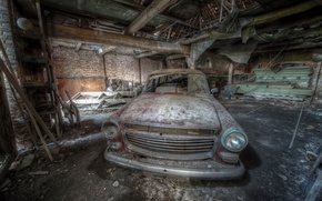 Обои abandone, lost, peugeot, 404, lost place