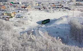 Картинка зима, город, фото
