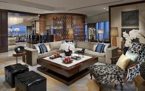 Картинка уют, интерьер, кресло, диваны, гостинная