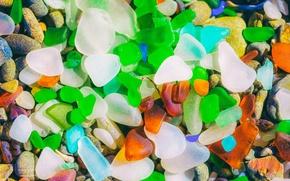 Обои цветные, камушки, стекляшки, фон