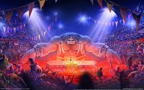 Картинка цирк, флаги, Ubisoft, зрители, game wallpapers, Rayman Legends, performance, Montpellier, Рэймен, circus, представление