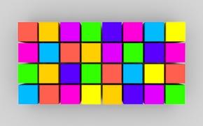 Картинка линии, краски, кубики, текстура, объем, квадрат
