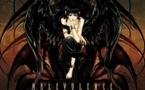 Картинка черный, крылья, падший ангел