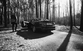 Картинка парень, photography, Thirteen, photographer, Марк Литовкин, Ауди, A5 Coupe, машина, авто, фотограф, auto, Audi, лес