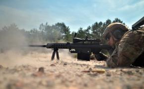 Картинка оружие, солдат, Barrett sniper rifle