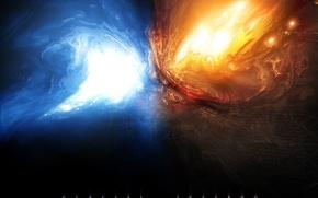 Картинка энергия, взрыв, противостояние