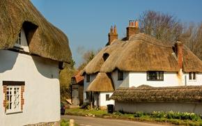 Картинка пейзаж, Англия, дома, коттедж, поселок