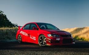 Картинка Mitsubishi, Lancer, Red, Evolution