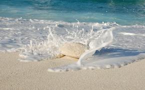 Картинка Вода, Песок, Океан, Пляж, Камень